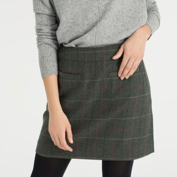 Fearne Heather Check Tweed Mini Skirt | Joules UK