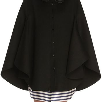 Burberry Embellished Wool Cape | Nordstrom