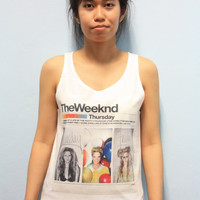 The Weeknd Abel Tesfaye Canadian Women Tank Top Tshirt T Shirt Size S,M,L
