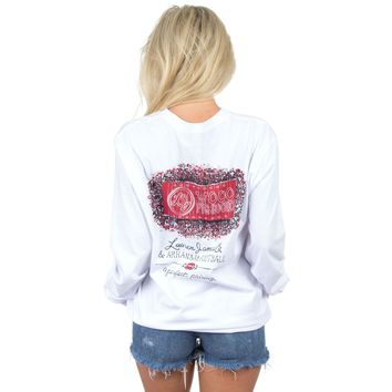 Arkansas Perfect Pairing Long Sleeve Tee in White by Lauren James