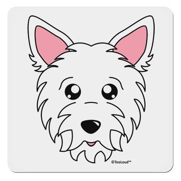 """Cute West Highland White Terrier Westie Dog 4x4"""" Square Sticker by TooLoud"""
