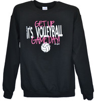 Get Up It's Volleyball Gameday Crew Neck Sweatshirt