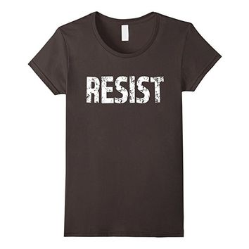 Resist T-Shirt with white text