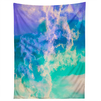 Caleb Troy Mountain Meadow Painted Clouds Tapestry
