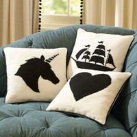 The Emily + Meritt Icon Needlepoint Pillow