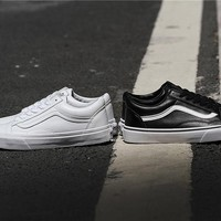 VANS OS Black/White Classics Skateboarding Shoes 36-44
