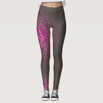 Pattern Grey with Purple dots Yoga Legging