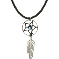 LOVEsick Dreamcatcher Feather Cord Necklace