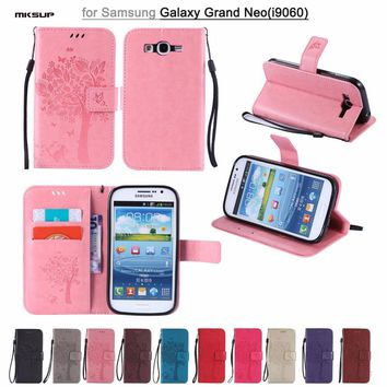 I9060 Case Luxury Leather Case for Samsung Galaxy Grand Neo I9060 Phone Cover Flip Case Mobile Phone Accessories Capa