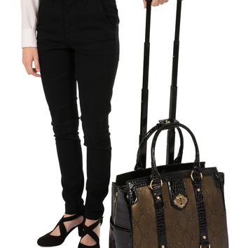 """""""THE CLEOPATRA"""" Rolling iPad, Tablet, or 15.6"""" Laptop Holdall Tote Bag"""