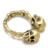 Monserat De Lucca Two Skulls Ring | SHOPBOP Save 20% with Code WEAREFAMILY13