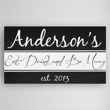 Kitchen Canvas Sign with Free Personalization
