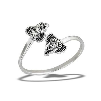 Sterling Silver Elephant Friends Ring