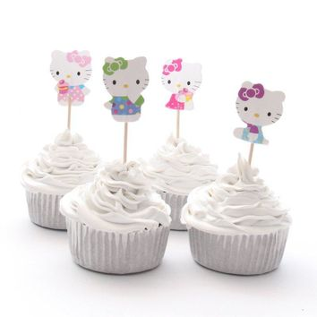 Hello Kitty Cupcake Topper Picks | Girls Party Decorations | Hello Kitty Party Favors | Hello kitty Party Supplies