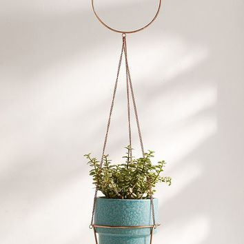 Metal Circle Hanging Planter | Urban Outfitters