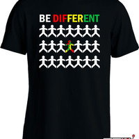Autism Awareness Shirt Autism T Shirt Be Different TShirt Advocate Autistic Ladies Mens Tee MD-360