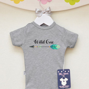 Wild One Baby Clothes. Baby Bodysuit With Arrow Print. Trendy Baby Clothes.  Modern a0e85658d