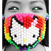 Original Mask From Kandi Gear - Hello Kitty Kandi Mask, Rave Wear
