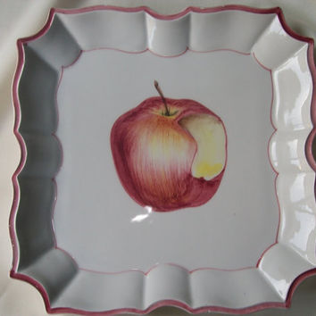 Vietri Plate/wall plaque hand painted in Italy