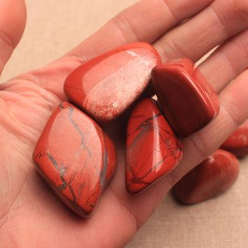 100g 4-6cm Natural Jasper Red Stone Jewelry Making DIY Bracelet Necklace 4-6cm Mineral Beads For Jewelry  DIY Making