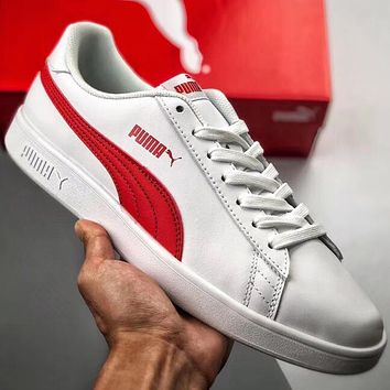 Trendsetter Puma Smash v2 L Women Men Fashion Casual Sneakers Sport Shoes