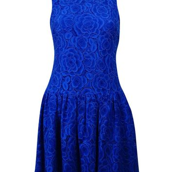 CeCe Women's Sleeveless Lace Drop Waist Sheath Dress