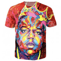 Biggie Face Paint Tee 3d colorful print summer t shirt women men tops tees harajuku casual tshirt vibrant t-shirt