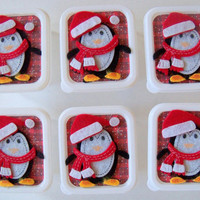 Penguin party favors, Classroom treats for Christmas or  Winter fun (Set of 6)