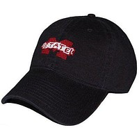 Mississippi State Needlepoint Hat in Black by Smathers & Branson