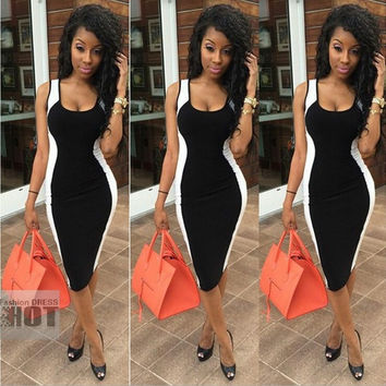 New Arrival Fashion Summer Black Party Prom Tank Dress,Women Casual Dresses = 1956585988