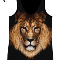 woman  PLUS SIZE lion print  top, t shirt and tank XS - Plus size