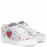 Doodle leather sneakers