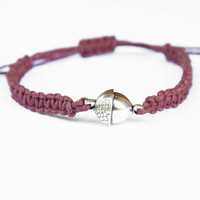 Acorn Bracelet Brown Hemp Friendship