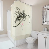 vintage drawing 5 shower curtain