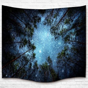 Celestial Forest Boho Wall Tapestry
