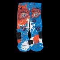 Oklahoma City Thunder Inspired Inspired Custom Nike Elite Socks