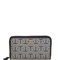Tory Burch Parker Geo-T Zip Leather Continental Wallet | Bloomingdales's