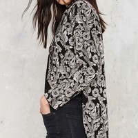 Nasty Gal Outlaw Embroidered Tailcoat Jacket