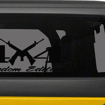4X4 Freedom Edition AR15 2nd Amendment Right to Bear Arms Supporter Vinyl Decals -0238