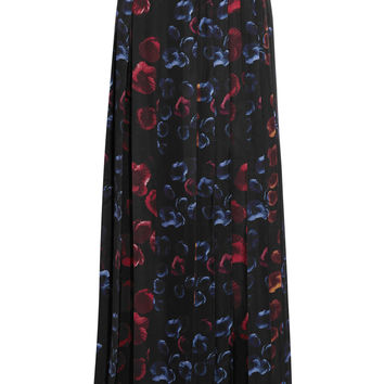 Zeus+Dione - Chloe floral-print pleated silk maxi skirt