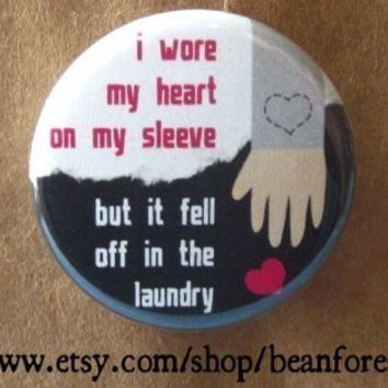 heart on my sleeve came off in the laundry