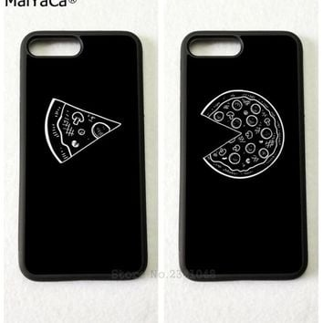 best friends forever BFF love pizza soft mobile phone cases for iPhone 5s se 6 6s plus 7 7plus 8 8plus X XR XS MAX cover case
