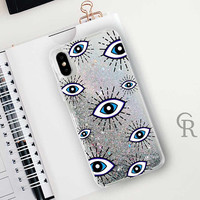 Eye Glitter Phone Case Clear Case For iPhone 8 iPhone 8 Plus - iPhone X - iPhone 7 Plus - iPhone 6 - iPhone 6S - iPhone SE  iPhone 5
