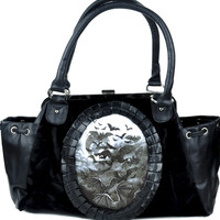 Swarm of Bats Clutch Hand Bag Gothic Lolita Death Purse Faux Leather