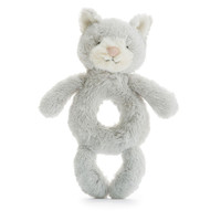 Jellycat Bashful Silver Kitty Grabber 7""