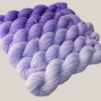 Gradient Yarn Set- Hand dyed Superwash  sock yarn  in Iris
