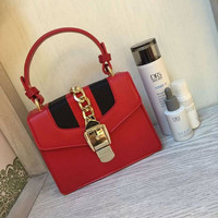 Gucci Women Leather Shoulder Bag Tote Handbag