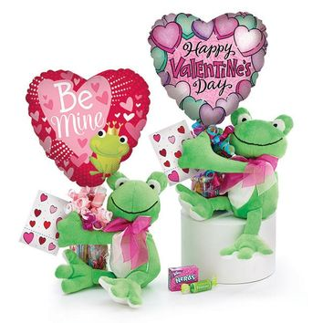 Valentine's Day Plush Frog Gift Assortment