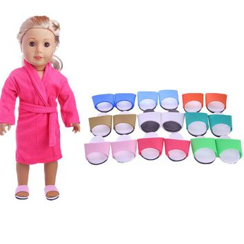 10Pairs/lot Doll Accessories Slippers New 18Inch Doll Shoes For American Girl