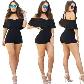 Body Amazon Plus Size Off The Shoulder Rompers Jumpsuits Short Macacao Curto Monos Cortos De Mujer